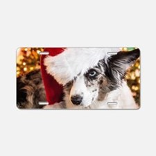 Cardigan Corgi Christmas Aluminum License Plate