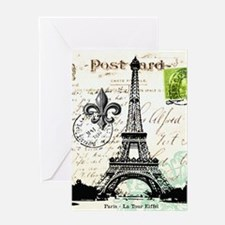 Vintage French Carte Postale Eiffel Tower Greeting