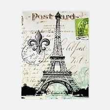 Vintage French Carte Postale Eiffel Tower Twin Duv