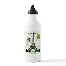 Vintage French Carte Postale Eiffel Tower Water Bo