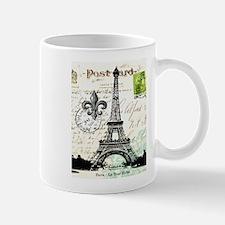 Vintage French Carte Postale Eiffel Tower Mug