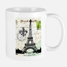 Vintage French Carte Postale Eiffel Tower Small Small Mug