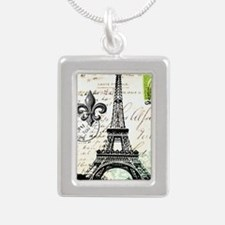 Vintage French Carte Postale Eiffel Tower Necklace