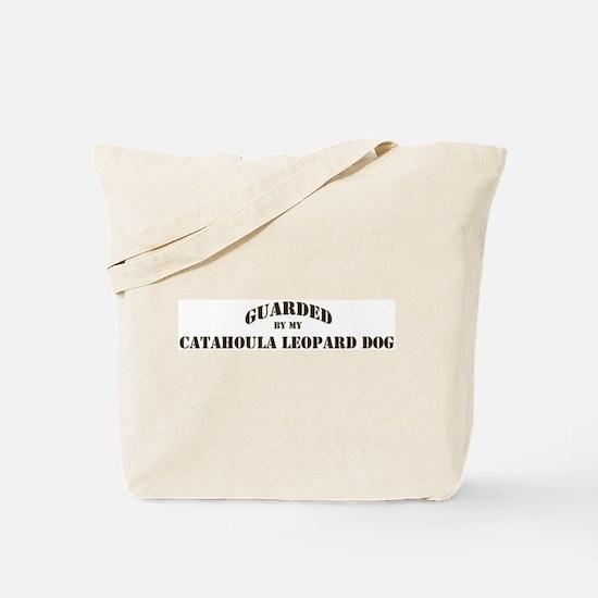 Catahoula Leopard Dog: Guarde Tote Bag