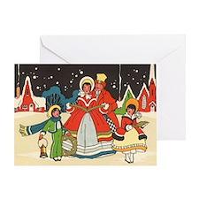 Vintage Christmas Carolers Greeting Card
