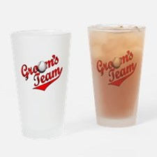 Baseball Groom's Team Pint Glass