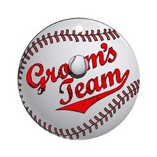 Baseball Groom's Team Ornament (Round)