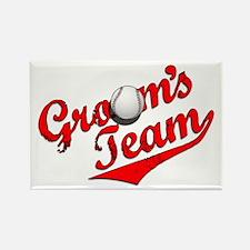 Baseball Groom's Team Rectangle Magnet