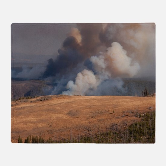 Fire in Yellowstone Throw Blanket