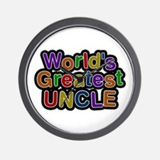 Worlds Greatest Uncle Wall Clock