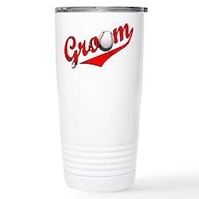 Baseball Groom Travel Coffee Mug