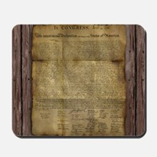 The Declaration of Independence Mousepad