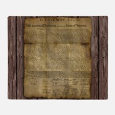 The Declaration of Independence Throw Blanket