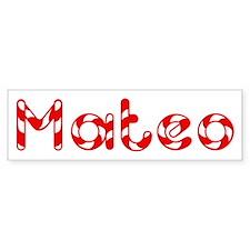 Mateo - Candy Cane Bumper Bumper Sticker