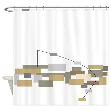modern minimalist shower curtain by gailgabel