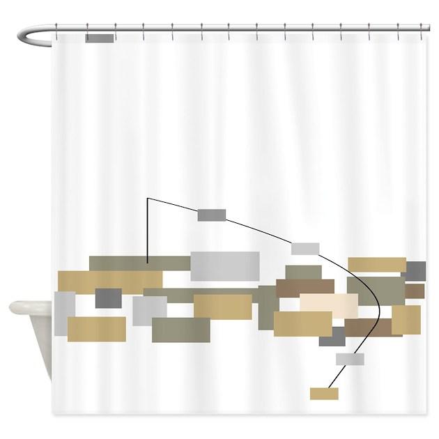 Modern Minimalist Shower Curtain By GailGabel