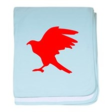 Red Eagle Silhouette baby blanket