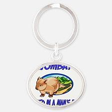Wombat556 Oval Keychain