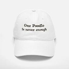 One Poodle Baseball Baseball Cap