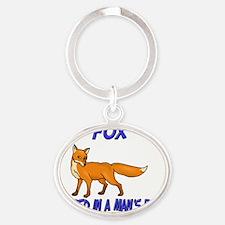 Fox62267 Oval Keychain