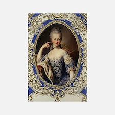 Marie Antoinette in vintage frame Rectangle Magnet
