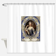 Marie Antoinette in vintage frame Shower Curtain