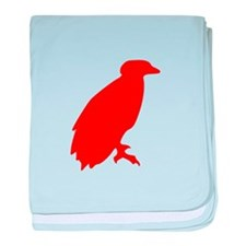 Red Perched Eagle Silhouette baby blanket