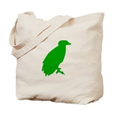 Green Perched Eagle Silhouette Tote Bag