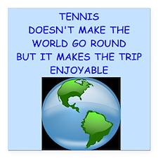 """tennis Square Car Magnet 3"""" x 3"""""""