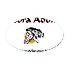 3-Zebra101 Oval Car Magnet