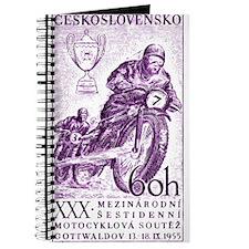 Vintage 1955 Czechoslovakia Motorcycle Race Stamp