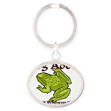 Frog67266 Oval Keychain
