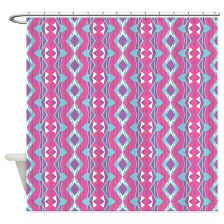 mix 447 pink shower curtain by ornaartzi