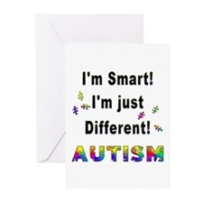 Autistic-Smart, Just Different! Greeting Cards (Pa