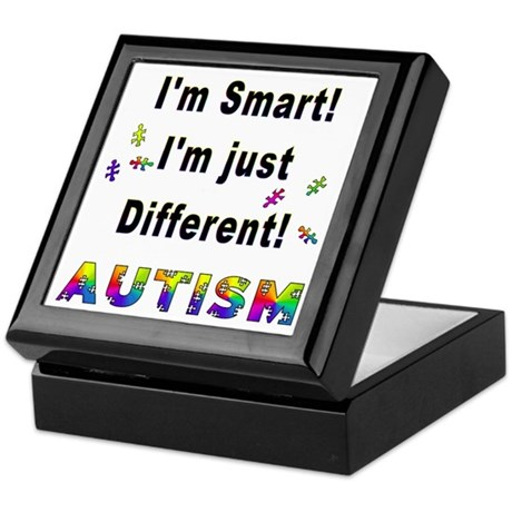Autistic-Smart, Just Different! Keepsake Box