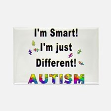 Autistic-Smart, Just Different! Rectangle Magnet