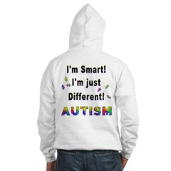 Autistic-Smart, Just Different! (OnBack) Hoodie