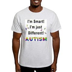Autistic-Smart, Just Different! Ash Grey T-Shirt