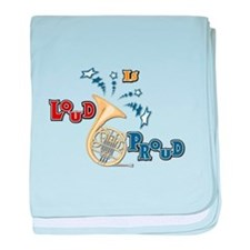 French Horn - Band Music baby blanket