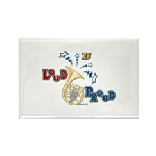 French Horn - Band Music Rectangle Magnet