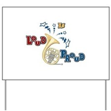 French Horn - Band Music Yard Sign