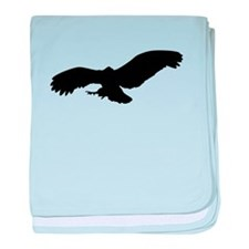 Black Flying Eagle Silhouette baby blanket