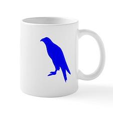 Blue Perched Eagle Silhouette Small Mug