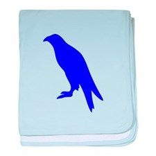 Blue Perched Eagle Silhouette baby blanket