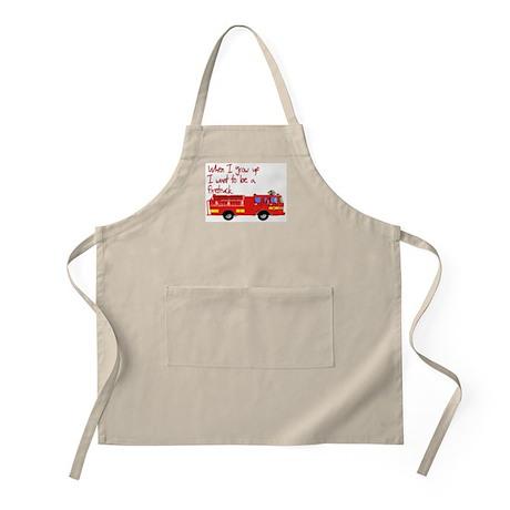 Firetruck BBQ Apron