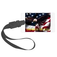God Bless The U.S.A. Luggage Tag