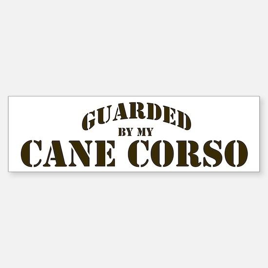 Cane Corso: Guarded by Bumper Bumper Bumper Sticker