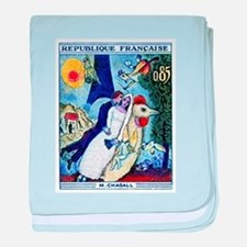 1963 France Les Fiancees Chagall Painting Stamp ba
