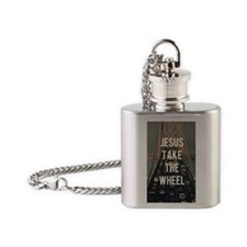 Drive Safe Flask Necklace