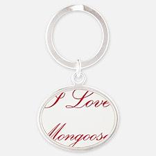 Mongooses108 Oval Keychain